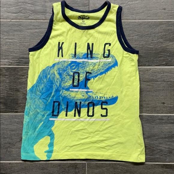 OshKosh Boys sleeveless Dino shirt size 10